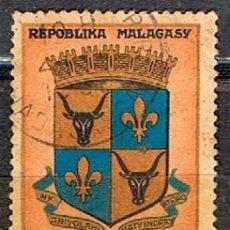 Sellos: MADAGASCAR IVERT Nº 392, ESCUDO DE TANANARIVE, USADO. Lote 250227575