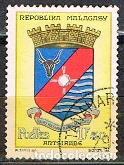 MADAGASCAR IVERT Nº 388, ESCUDO DE ANTSIRABÉ, USADO (Sellos - Extranjero - África - Madagascar)