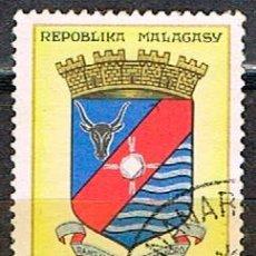 Sellos: MADAGASCAR IVERT Nº 388, ESCUDO DE ANTSIRABÉ, USADO. Lote 250227745
