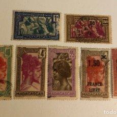 Sellos: 7 ANTIGUOS SELLOS USADOS DE MADAGASCAR (RF) (334). Lote 253276200