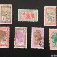 """Sellos: LOTE DE 7 SELLOS MADAGASCAR """"ANTIGUOS"""" CON SEÑALES DE USO. Lote 253799390"""