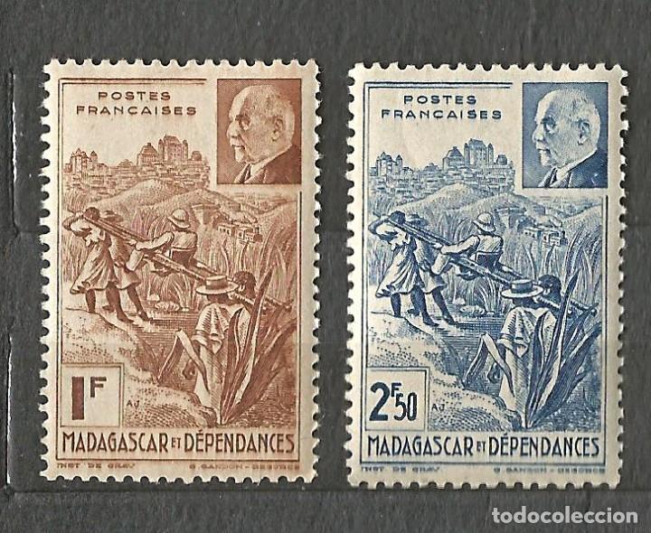 MADAGASCAR Y DEPENDENCIAS - 1941 - PETAIN - 2 VALORES - NUEVOS (Sellos - Extranjero - África - Madagascar)