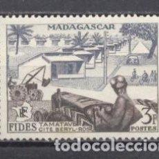 Selos: MADAGASCAR, 1956,YVERT-TELLIER 327,NUEVO CON GOMA,. Lote 259313565