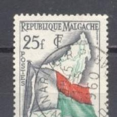 Sellos: MADAGASCAR, 1959, YVERT-TELLIER 339, USADO. Lote 259318920