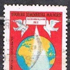 Sellos: MADAGASCAR, IVERT Nº 605, OCÉANO ÍNDICO, ZONA DE PAZ, USADO. Lote 265335569