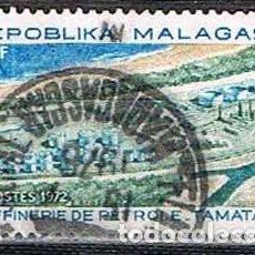Sellos: MADAGASCAR, IVERT Nº 510, REFINERIA DE PETRLEO DE TAMATAVE, USADO. Lote 265341154