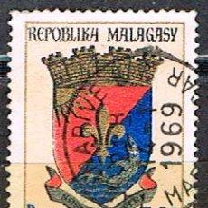Sellos: MADAGASCAR, IVERT Nº 439, ESCUDO DE NOSSI BÉ, USADO. Lote 265486094