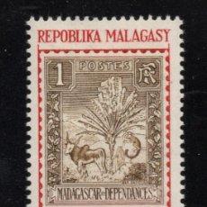 Sellos: MADAGASCAR 422** - AÑO 1966 - DIA DEL SELLO. Lote 267630074