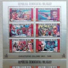 Sellos: 1987. MADAGASCAR. 819/824. 500 ANIV. DESCUBRIMIENTO DE AMÉRICA. SELLOS EN HB. SERIE COMPLETA. NUEVO.. Lote 275032098