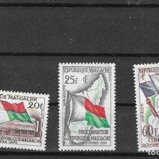 Francobolli: MADAGASCAR Nº 338 AL 340 (**). Lote 277563188