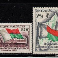Timbres: MADAGASCAR 338/39** - AÑO 1959 - PROCLAMACION DE LA REPUBLICA. Lote 286878918