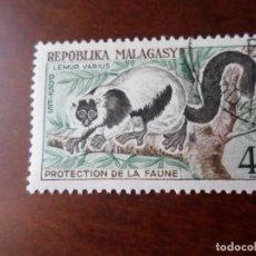 Sellos: MADAGASCAR, 1961, LEMURES, YVERT 358. Lote 294075393