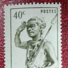 Sellos: MADAGASCAR***MNH - VALOR FACIAL 40 C - AÑO 1946 - DANSEUR DU SUD - BAILARÍN DEL SUR CON TRAJE TÍPICO. Lote 295480013