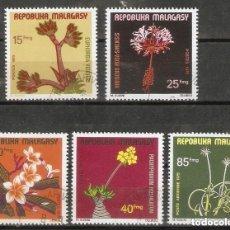 Sellos: MADAGASCAR. 1975. YT 562/65. FLORES.FLORA.. Lote 295590288