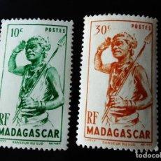Sellos: DOS SELLOS DE MADAGASCAR DE 1946 NUEVOS. Lote 295778398