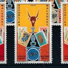 Sellos: MADAGASCAR 1972 IVERT 504/6 *** EXPOSICIÓN FILATÉLICA EN TANANARIVO. Lote 297025223