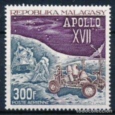 Sellos: MADAGASCAR 1973 AÉREO IVERT 124 *** CONQUISTA DEL ESPACIO - APOLO XVII. Lote 297025793