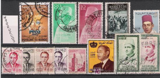 LOTE DE 13 SELLOS DE MARRUECOS (Sellos - Extranjero - África - Marruecos)