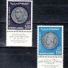 Sellos: MARRUECOS AEREO 117/8, SIN CHARNELA, MONEDAS NACIONALES, . Lote 11244097