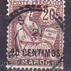 Sellos: MARRUECOS 13 USADA, SOBRECARGADO 20 CENTIMOS,. Lote 10815408