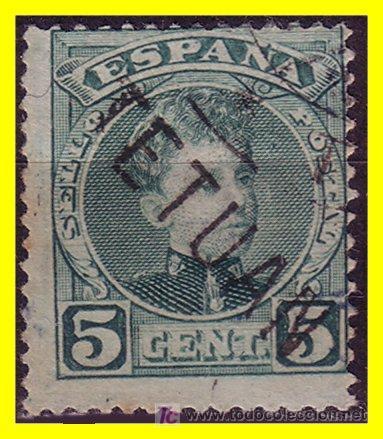 MARRUECOS 1908 SELLOS DE ESPAÑA HABILITADOS Nº 16HI (O) (Sellos - Extranjero - África - Marruecos)