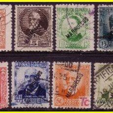 Timbres: TÁNGER 1930 SELLOS DE ESPAÑA HABILITADOS Nº 70 A 81 (O). Lote 19226639