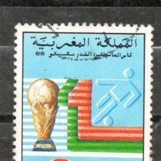 Sellos: 4-AFRICA-REINADO DE MARRUECOS-1986-DEPORTES-FÚTBOL-COPA DEL MUNDO-MEXICO 86. Lote 19950819