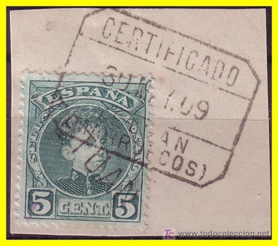 MARRUECOS 1908 SELLOS DE ESPAÑA HABILITADOS, EDIFIL Nº 16HI (O) (Sellos - Extranjero - África - Marruecos)