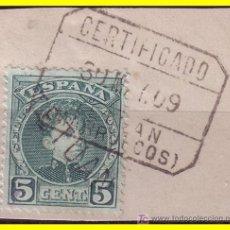Sellos: MARRUECOS 1908 SELLOS DE ESPAÑA HABILITADOS, EDIFIL Nº 16HI (O). Lote 20249026