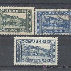 Sellos: MAROC, 1939-42, YVERT TELLIER 179,180,233. Lote 21324392