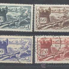 Sellos: MAROC, 1945-47, YVERT TELLIER 174, 176,181,229. Lote 21324450