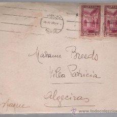 Sellos: CARTA DE RABAT A ALGECIRAS. DE 26 NOVIEMBRE 1935. AL DORSO,MEMBRETE DEL HOTEL BALIMA - RABAT.. Lote 27396029