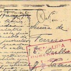 Sellos: CENSURA GUBERNATIVA TANGER. SELLO AÑO SANTO 1943 ESPAÑA, SOBRE POSTAL DE SAN SEBASTIAN. Lote 35085353