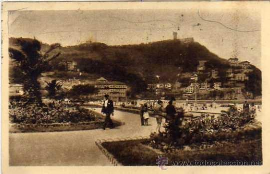 Sellos: Censura gubernativa Tanger. Sello año santo 1943 España, sobre postal de San Sebastian - Foto 2 - 35085353