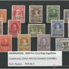 Sellos: MARRUECOS - PRO CRUZ ROJA ESPAÑOLA 1926. Lote 49336121