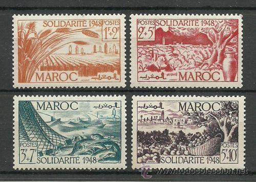 MARRUECOS 1948 2 SERIES COMPLETAS NUEVO AEREO LUJO MNH *** (Sellos - Extranjero - África - Marruecos)