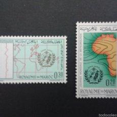 Sellos: SELLOS DE MARRUECOS. GEOGRAFÍA. MAPAS. YVERT 472/3. SERIE COMPLETA NUEVA SIN CHARNELA.. Lote 53246932