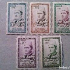 Sellos: MARRUECOS YVERT Nº 397 A 401 *CON CHARNELA. Lote 205758187