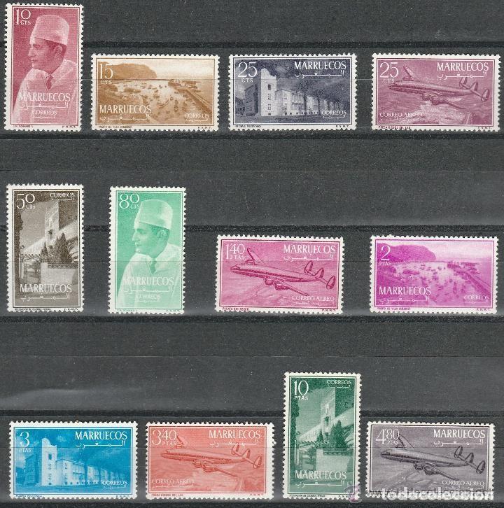 MARRUECOS. 1956. TIPOS DIVERSOS. SERIE / SET. **. MNH (Sellos - Extranjero - África - Marruecos)