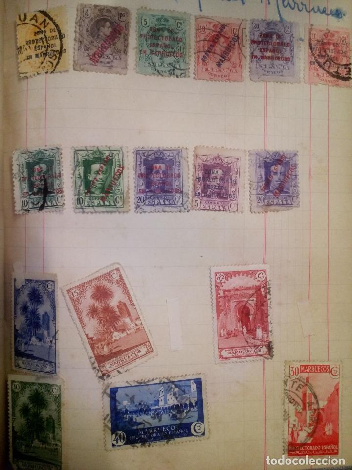 17 SELLOS CIRCULADOS MARRUECOS (Sellos - Extranjero - África - Marruecos)