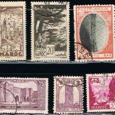 Sellos: MARRUECOS - LOTE DE 10 SELLOS - VARIOS ANTIGUOS (USADO) LOTE 2. Lote 106621035