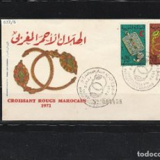 Sellos: MARRUECOS 1973 - FDC YVERT NRO. 637-38 - MATASELLO. Lote 108731947