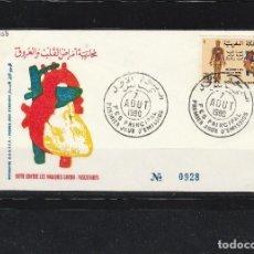 Sellos: MARRUECOS 1980 - FDC YVERT NRO. 855 - MATASELLO. Lote 108732199