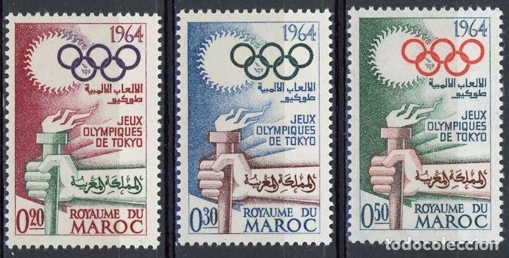 MARRUECOS 1964 IVERT 476/8 * JUEGOS OLIMPICOS DE TOKYO - DEPORTES (Sellos - Extranjero - África - Marruecos)