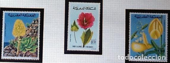SERIE COMPLETA YVERT 785/87, CON GOMA ORIGINAL. FLORES (Sellos - Extranjero - África - Marruecos)