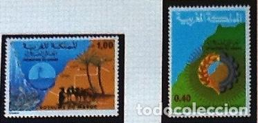 SERIE COMPLETA YVERT 805/06, CON GOMA ORIGINAL. PROMOCIÓN DEL SAHARA (Sellos - Extranjero - África - Marruecos)