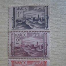 Timbres: MARRUECOS FRANCÉS 1947. YVERT 251, 253A Y 261. FORTALEZA. NUEVOS SIN CHARNELA.. Lote 127560491