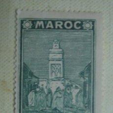 Sellos: MARRUECOS FRANCÉS 1939. MEZQUITA DE SALÉ. YVERT 166. NUEVO CON CHARNELA. Lote 128491595
