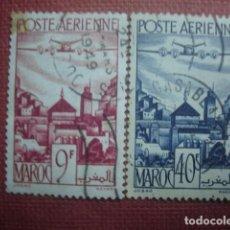 Sellos: MARRUECOS FRANCÉS. CORREO AÉREO 1947. YVERT PA60 Y PA 61. USADOS.. Lote 128743347