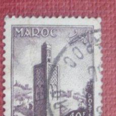 Sellos: MARRUECOS FRANCÉS 1955. MINARETE DE CHELLA EN RABAT. YVERT 352. USADO. Lote 128819515
